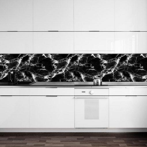 Czarno-biała naklejka na szybę do kuchni