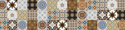 naklejka na szybę do kuchni orientalne wzory