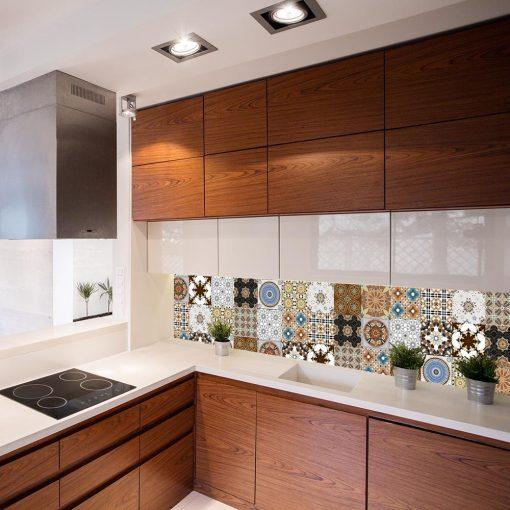 orientalne wzory naklejka na szkło do kuchni