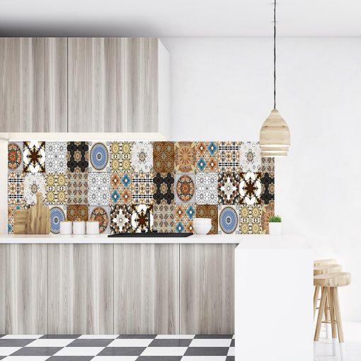 naklejka na szkło marokańskie kafelki