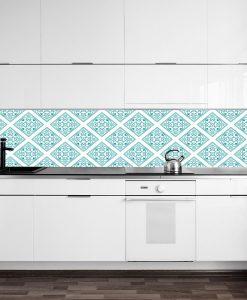 naklejka turkusowa na szkło do kuchni