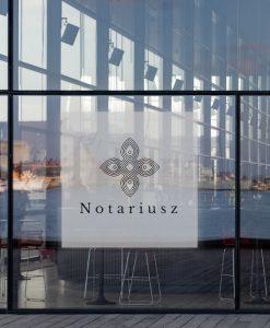 naklejka na okno logo notariusz