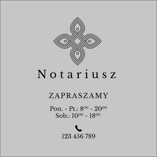 naklejka dla notariusza godziny otwarcia
