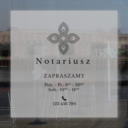 naklejka godziny otwarcia notariusz