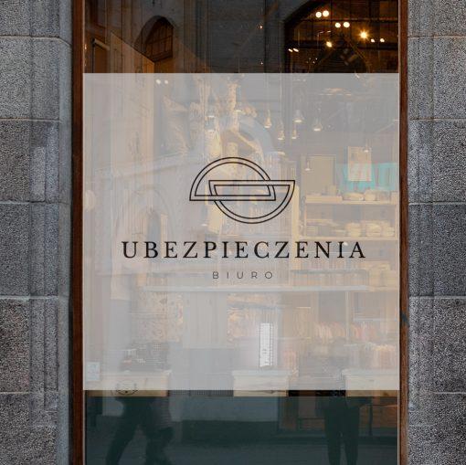 logo agencji ubezpieczeniowej naklejka na okna