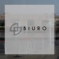 naklejka na okna logo biura nieruchomości
