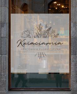 naklejka na okno i witrynę kwiaciarnia