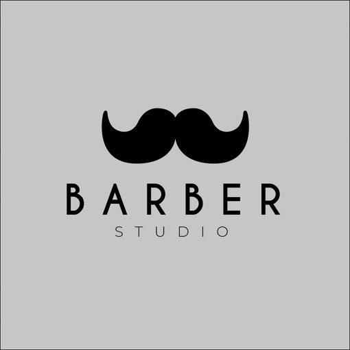 naklejka do studia barbera logo