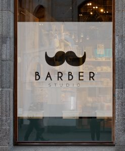 naklejka logo barber