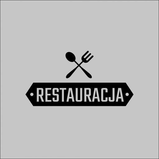 naklejka na okno lokalu logo restauracji