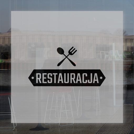 naklejka restauracja logo