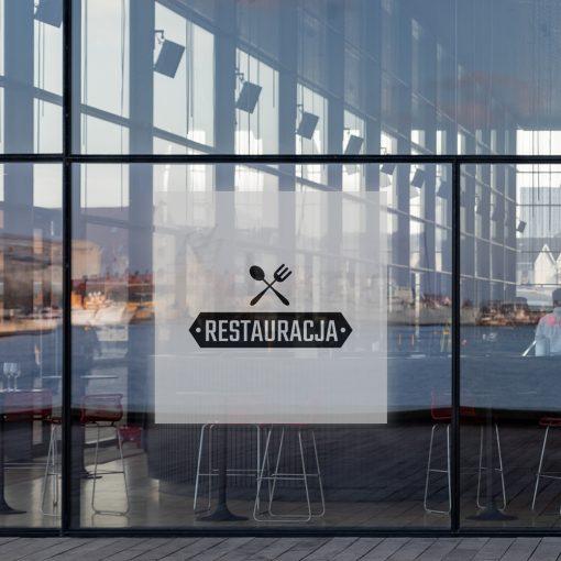 naklejka na witrynę logo restauracji