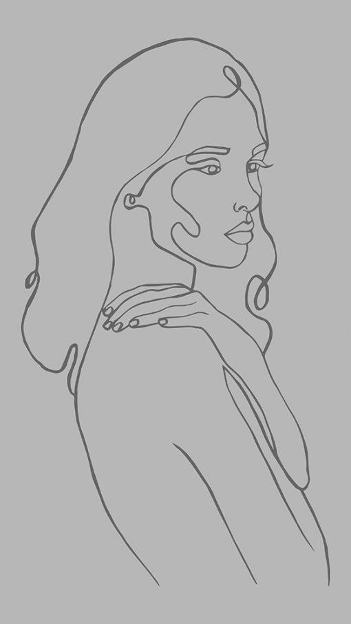 naklejka na szklany blat portret kobiety
