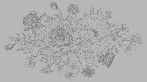 obrus samoprzylepny z kwiatami