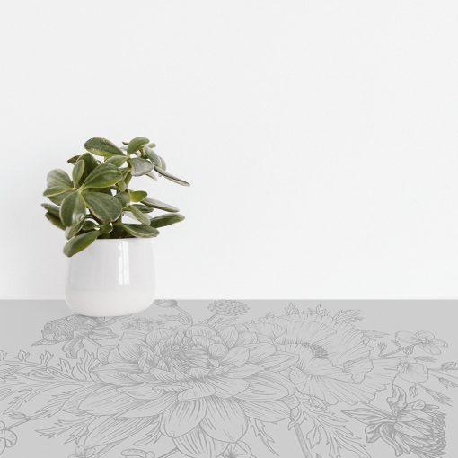 naklejka obrus kwiaty