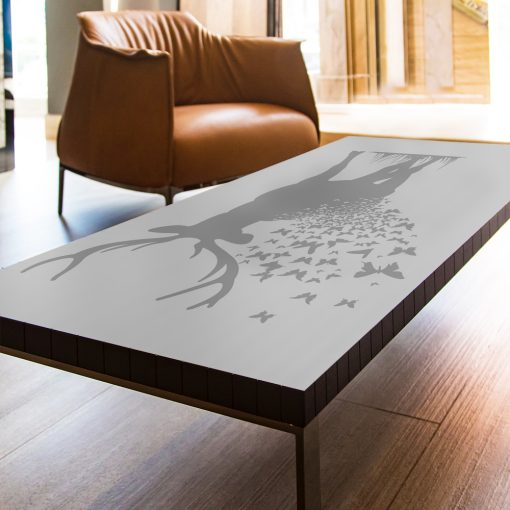 szklany stół naklejka jeleń
