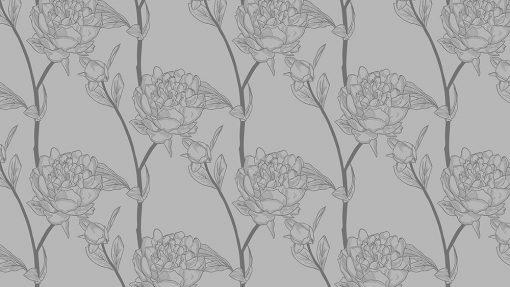 naklejka na szklany stół w kwiaty