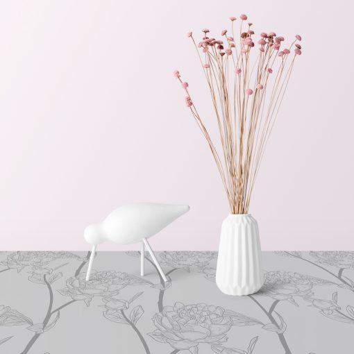 samoprzylepny obrus w kwiaty