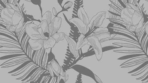 naklejka z liśćmi palmy na szklany stół