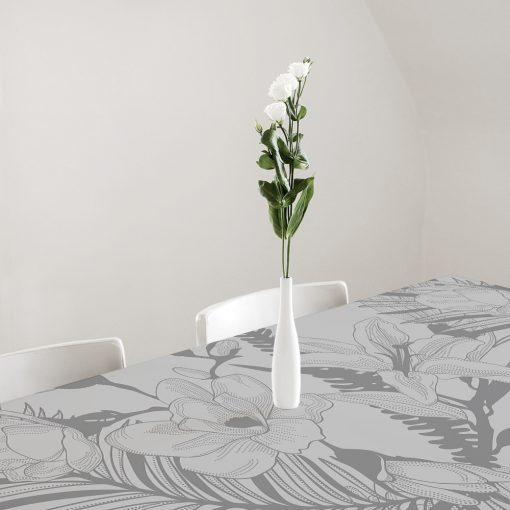 obrus samoprzylepny kwiaty i liście palmy