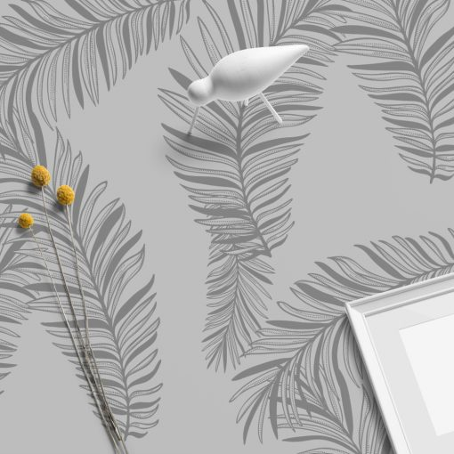 naklejka liście palmy na szklany stół