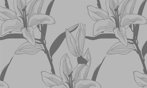 okleina matująca na szyby kwiaty lilii
