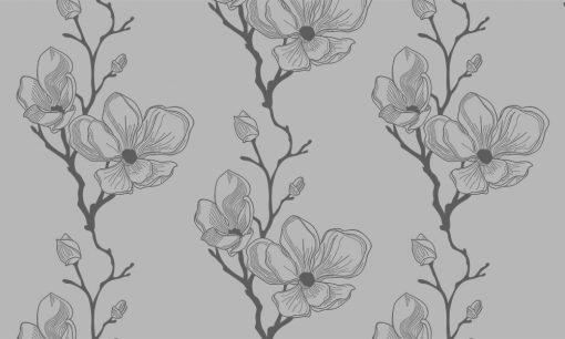naklejka matująca szyby kwiaty magnolii