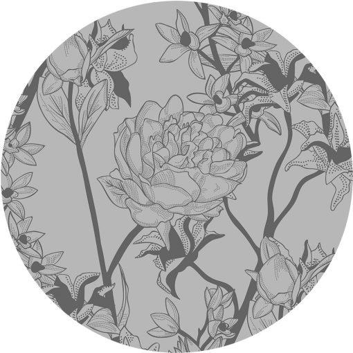 samoprzylepny obrus okrągły w kwiaty
