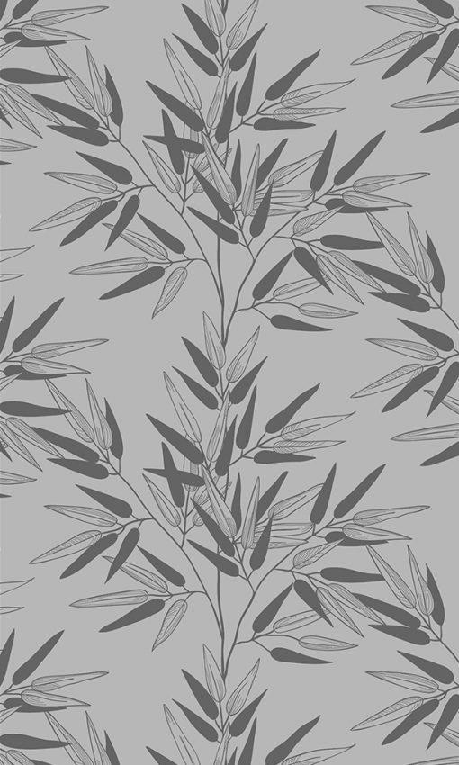 naklejka matująca szyby liście bambusa