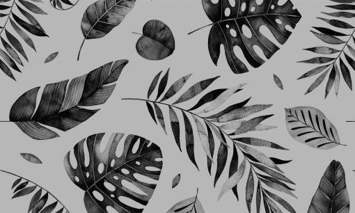 naklejka matująca na szybę tropikalny motyw