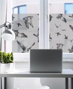 naklejka matująca szyba okienna ptaki