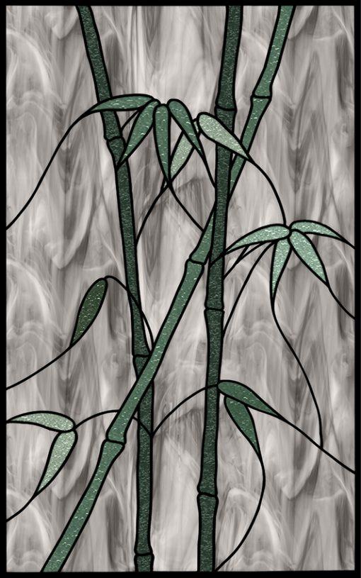 naklejka witraż bambus