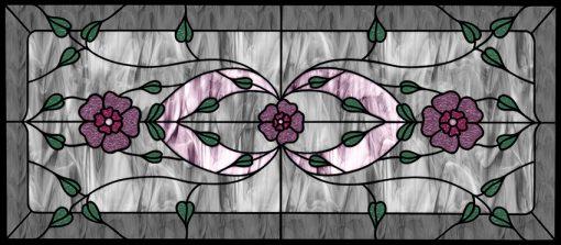 naklejka witrażowa fioletowe kwiaty