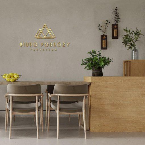 Przestrzenny logotyp do biura podróży