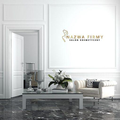 Przestrzenny logotyp do salonu kosmetycznego