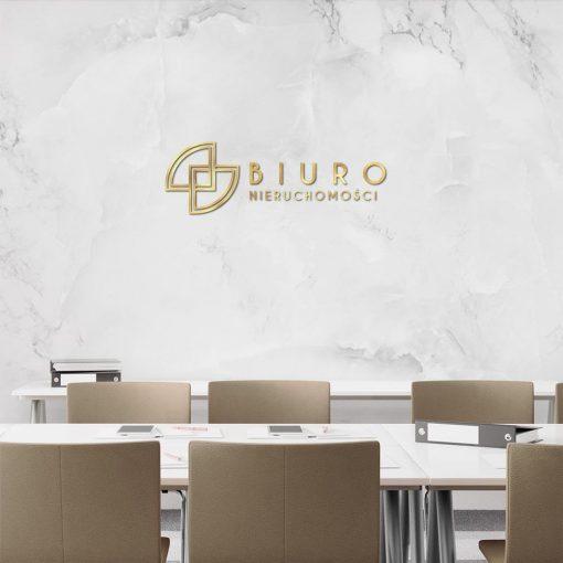 Przestrzenny logotyp dla biura nieruchomości