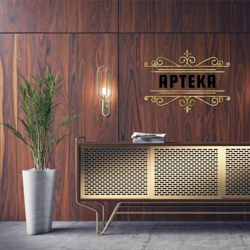 Złote logo do apteki
