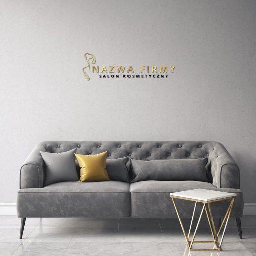 Trójwymiarowy logotyp do salonu kosemtycznego