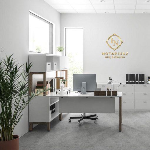 Gabinet notariusza - logo 3d