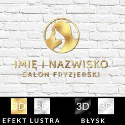 Złoty logotyp dla salonu fryzjerskiego