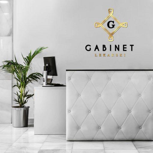 Przestrzenne logo - gabinet lekarski