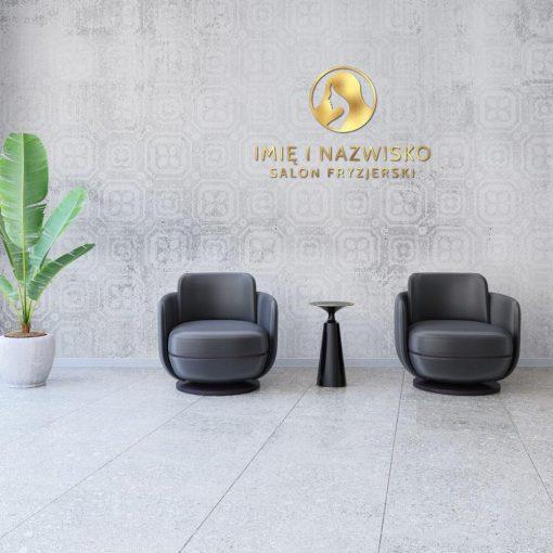 Logotyp 3d - salon fryzjerski