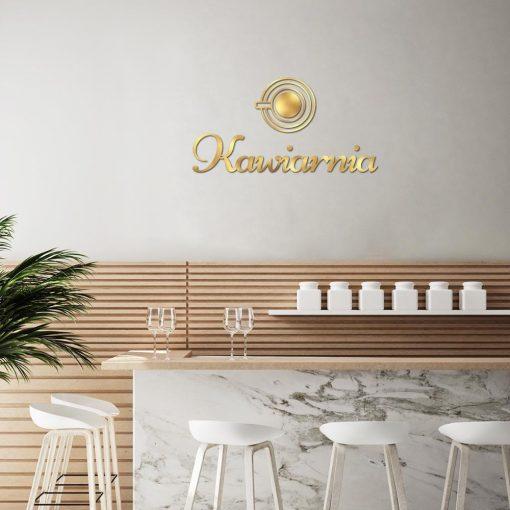 Przestrzenne logo dla kawiarni