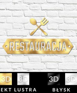 Logo 3d do restauracji