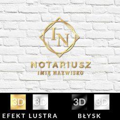 Logotyp 3d dla Notariusza