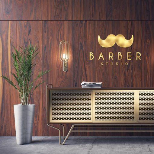 Przestrzenny logotyp do barbera
