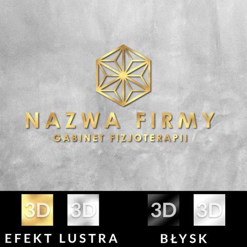 Fizjoterapeuta - logo 3d z trójkątami