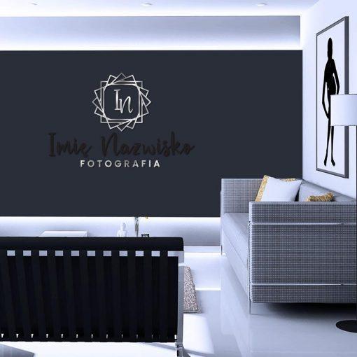 Logotyp 3d dla fotografa z inicjałami