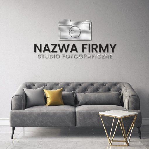 Logotyp 3d dla fotografa z aparatem