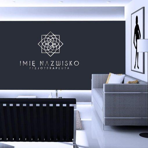 Abstrakcyjny kwiat - logo 3d dla fizjoterapeuty